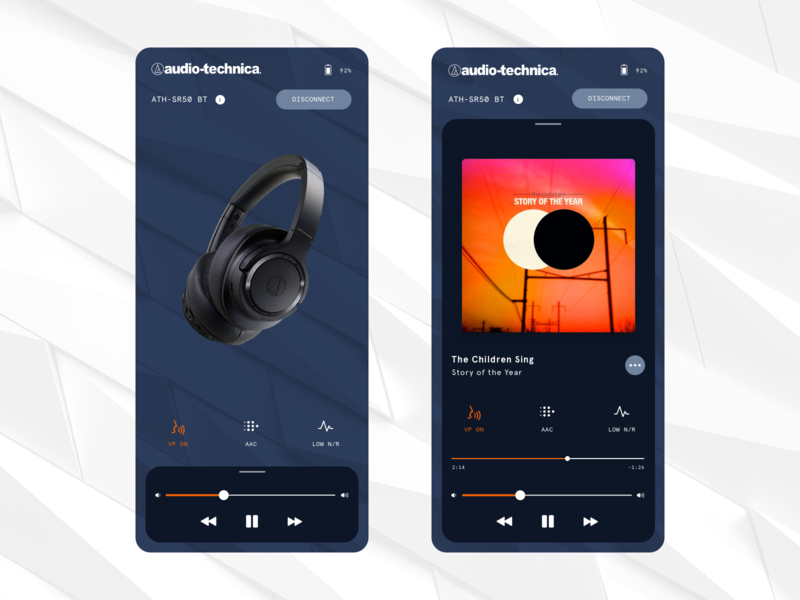 Audio Technica App Facelift Concept style modern clean lift app concept technika audio audiotechnica