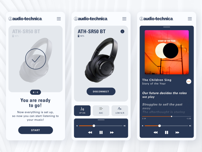 Audio Technica App Facelift Concept v2 - 2/2