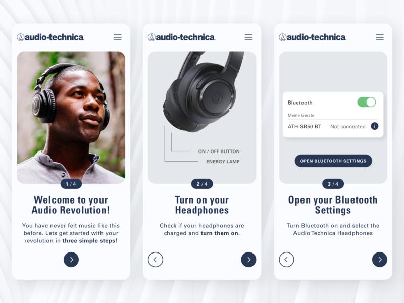 Audio Technica App Facelift Concept v2 - 1/2