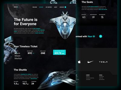 SPACEDchallenge Website Layout