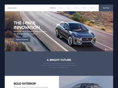 Jaguar iPace Concept ipace classic elegant modern design concept website jaguar