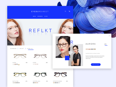 RFLKT e-commerce landing ui-design ui e-commerce