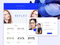 RFLKT e-commerce landing