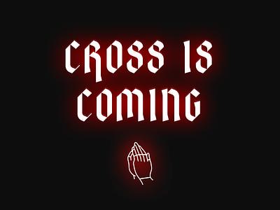 cross is coming neon sign neon cyclocross