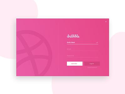 Hello, Dribbble! interface debut ui