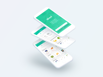 Diced digital design graphic design app food food management user experience ux mockup interface ui