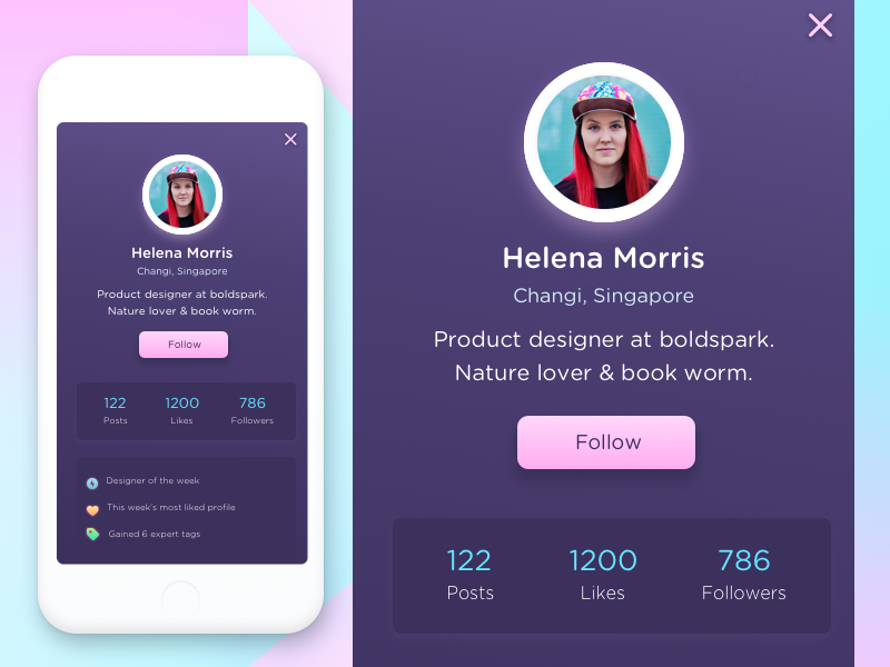 User Profile screen UI