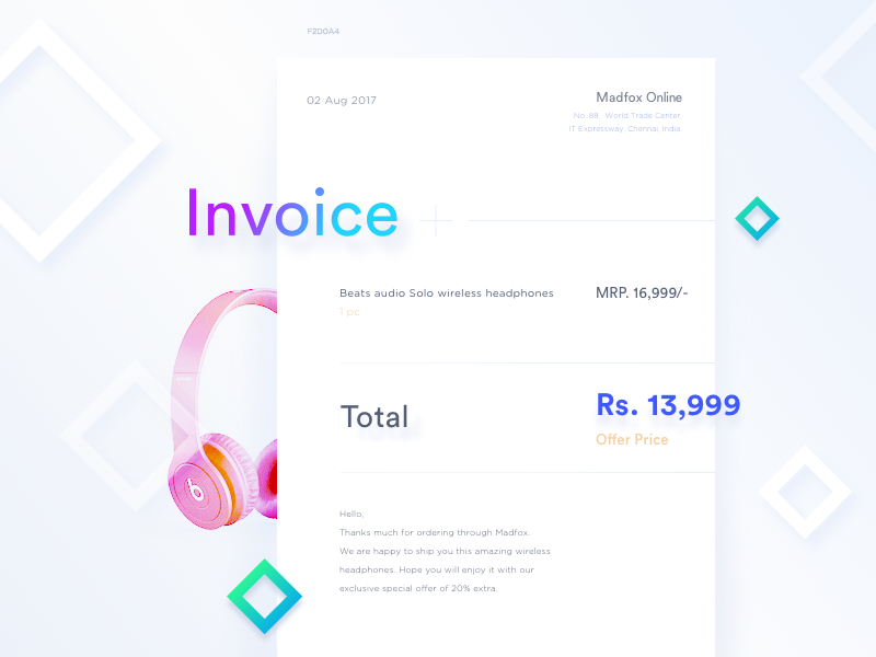 minimal invoice template 1 by sheiks dribbble