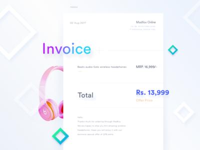 Minimal Invoice template 1