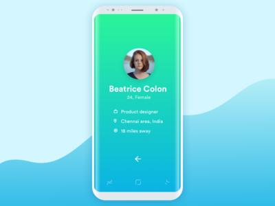 Minimal User Profile UI  - 1
