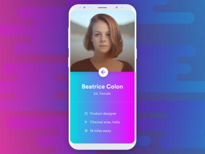 Minimal User Profile UI - Day 27