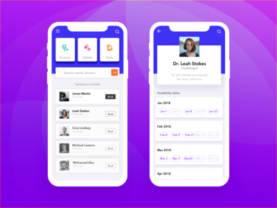 Healthcare app concept ui