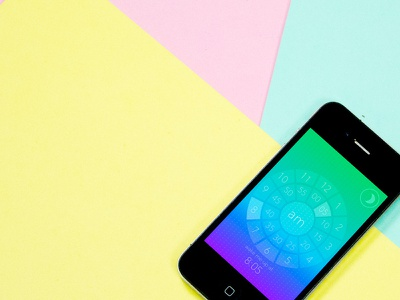 The Early Edition Interface and photoshoot app iphone colors gradient mobile userinterface design alarm