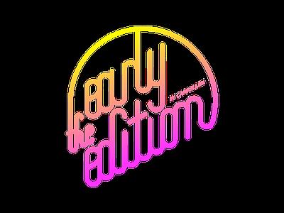 The Early Edition Logo logo branding identity pink rainbow