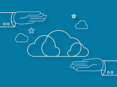 Managed Cloud Services Illustration technology cloud illustration design drawing line