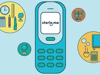 Sterio.me: Illustration for our explainer film illustration education vector learning film ui