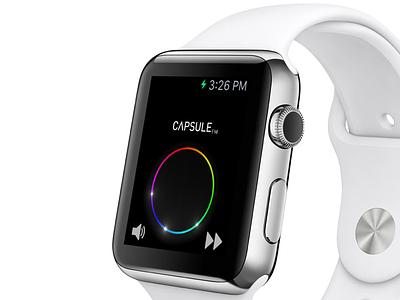 Capsule.fm on Apple Watch design ui apple watch app