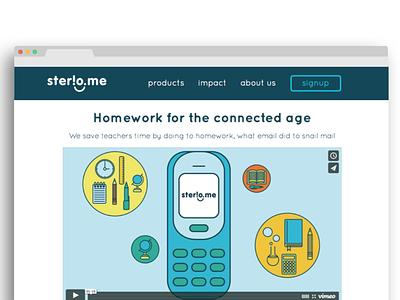 Website facelift for Sterio.me website flat design illustration