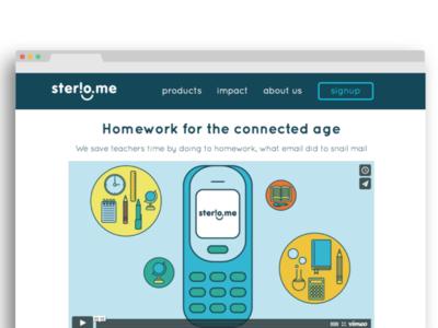 Website facelift for Sterio.me