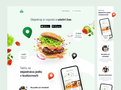 Eatster Website food ordering landing layout