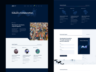 AI Center Industry Collaboration visual identity artificial intelligence 3dshape science researchers university branding typography layout