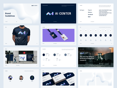 AI Center Brand Guidelines artificial intelligence university researchers brand identity visual identity guidelines logo branding