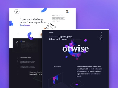 Coming Soon Projects 🤞 release digital otwise branding brands illustrations organic shapes dark agency personal website