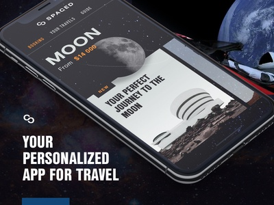 Spaced App Concept booking ios dark design app moon sci-fi space spaced spacedchallenge travel spacex