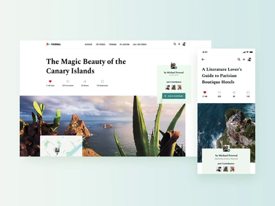 Article page explorations storytelling map location animation responsive design scroll article typography layout branding exploration