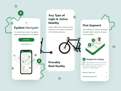 Cyclers Mobile Screens