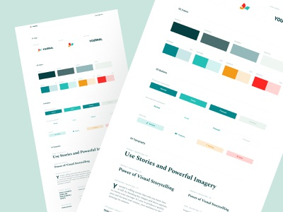 Style Guide Preview colors styleguide design typography branding layout exploration