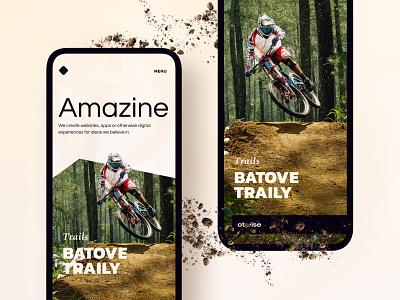 Trails minimalistic typography magazine cover blog magazine design magazine amazine