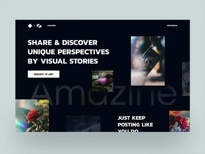 Unique Perspectives in Motion stories posts photography grid zine magazine animation dark exploration layout typography