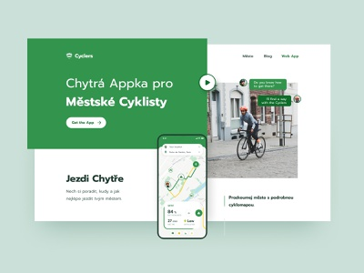 Urban Cyclers landing cycling navigation urban cyclers cyclers android ios app branding exploration layout typography