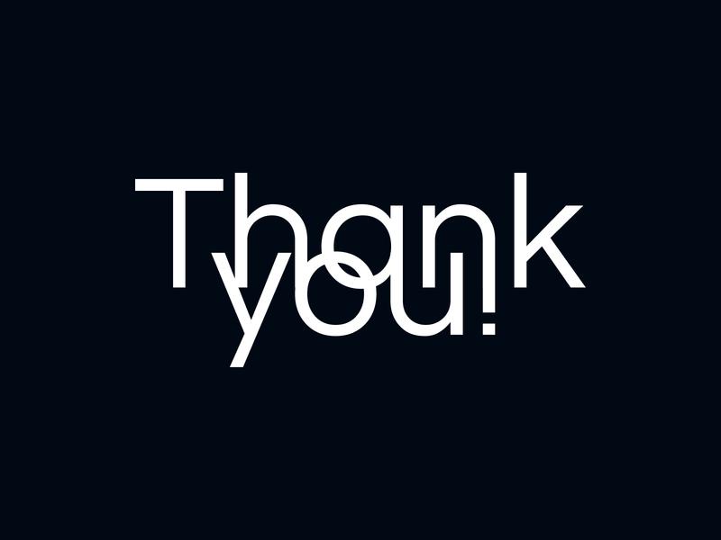 Thank you! type art type typography