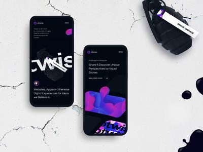 Otwise Mobile Exp mobile website grenade fluid dark landing branding exploration layout typography