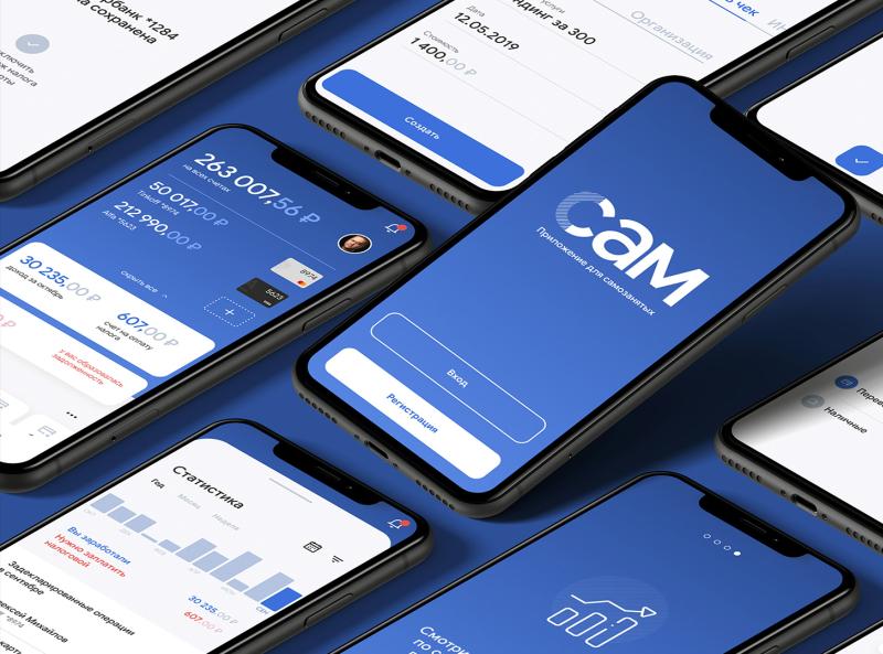 Bank App for self-employed. UX/UI. VTB + Angry app design minimal bank app bank mobile ui app
