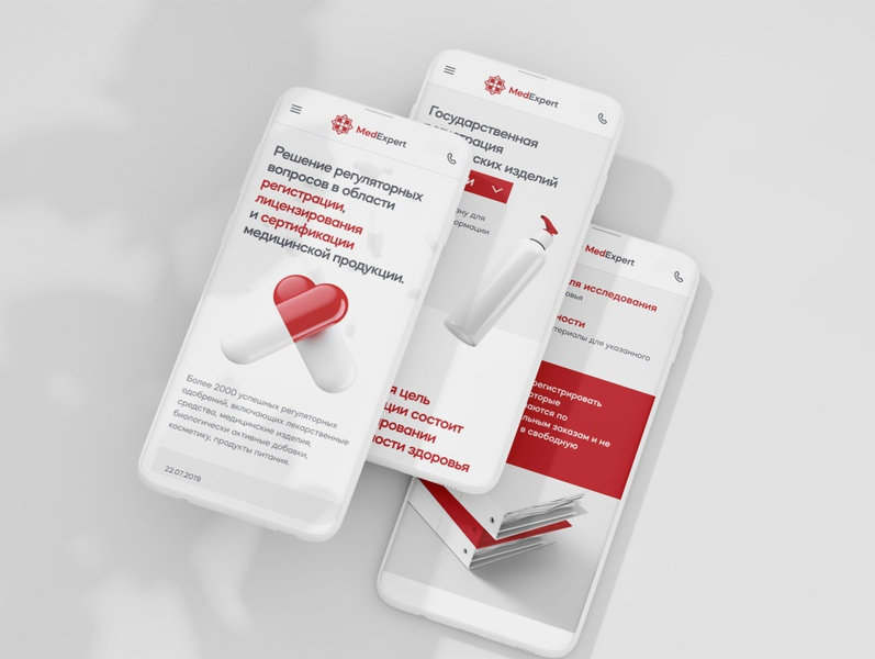 MedExpert corporate awwwards web ui ux animation minimal healthcare health medic