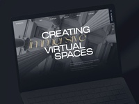 Emperia VR fragments 8 vr corporate brutalism awwwards web animation ux ui minimal