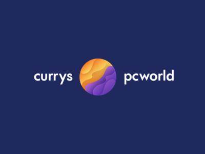 Currys/PC World Logo new purple pcworld currys minimal shadow flat logo gradient