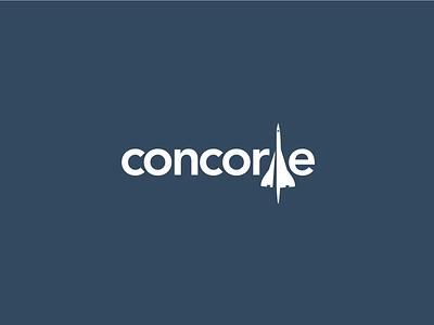 Concorde avenir minimal flat typography logo fly