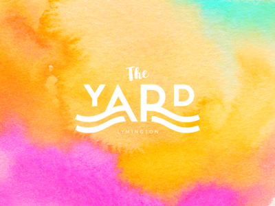 The Yard waves nautical clean simple logo