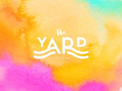 The Yard waves nautical clean simple logo
