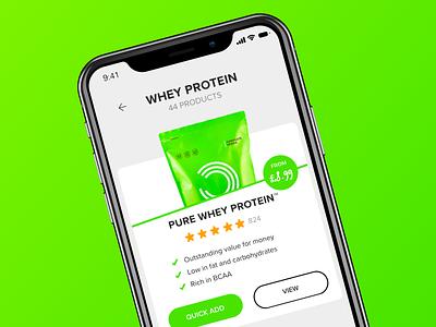 Bulk Powders App ios interaction ui app fitness green