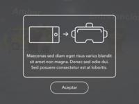 Info popup for webVR app