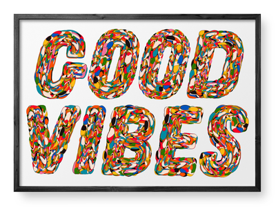 Good Vibes typographic experiments poster type colour art typography