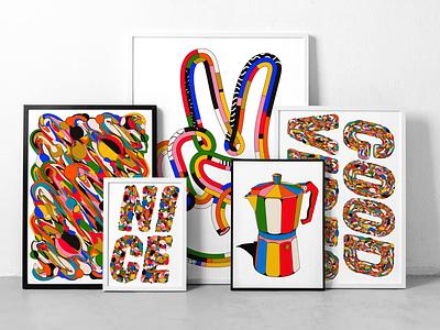 Latest Art prints colour giclée illustration art prints prints art