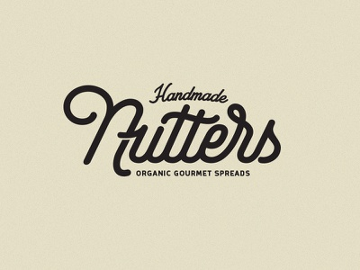 Nutters Logotype logo logotype typography andrew footit nuts spreads identity branding