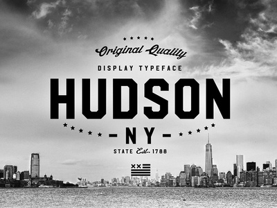 Hudson NY - Display Font