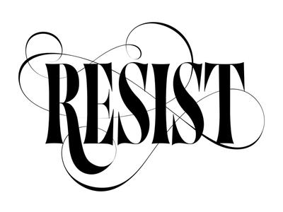 Resist Lettering